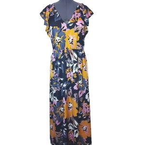 H&M Floral Maxi Dress Size L NWOT